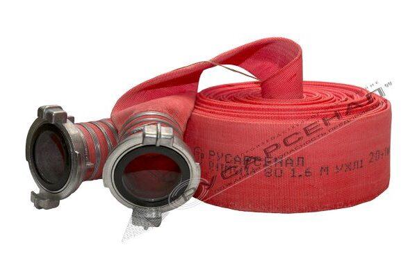Пожарный рукав типа Латекс 80мм с головками