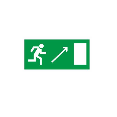 E 05 Направление к эвакуационному выходу направо вверх