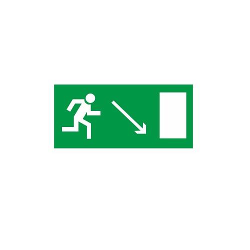 E 07 Направление к эвакуационному выходу направо вниз