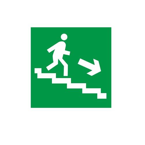 E 13 Направление к эвакуационному выходу по лестнице вниз