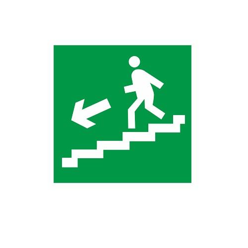 E 14 Направление к эвакуационному выходу по лестнице вниз