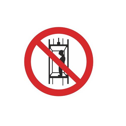 P 13 Запрещается подъем (спуск) людей по шахтному стволу (запрещается транспортировка пассажиров)