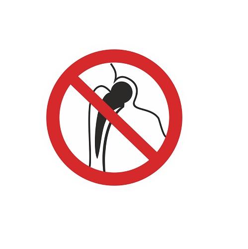 P 16 Запрещается работа (присутствие) людей. имеющих металлические импланты
