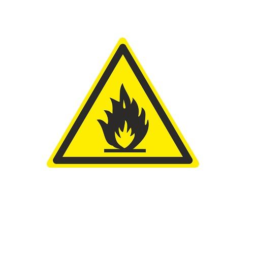 W 01 Пожароопасно. Легковоспламеняющиеся вещества