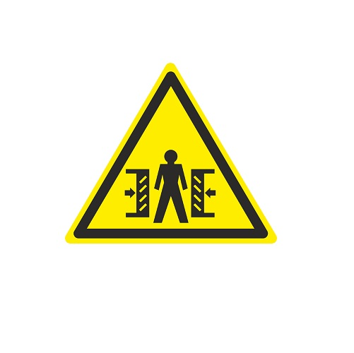 W 23 Внимание. Опасность зажима