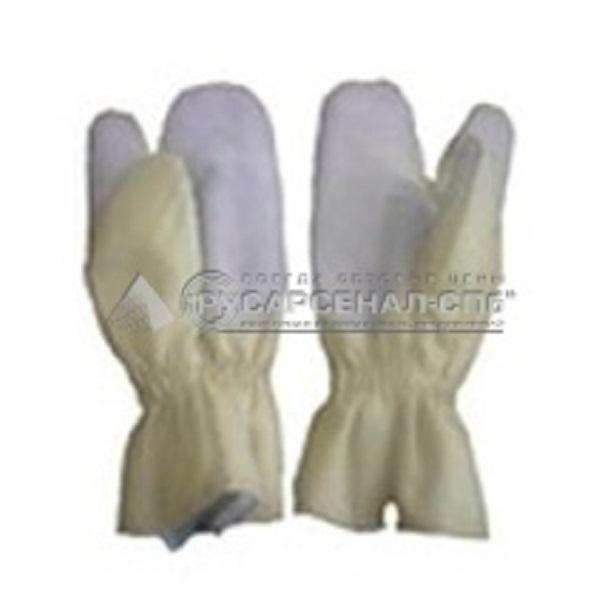 Перчатки трехпалые с крагами ткант «ТТОС»