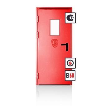 Металлическая противопожарная дверь ЕI2-60 со стеклом