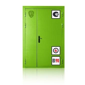 Противопожарная дверь двустворчатая EI 90