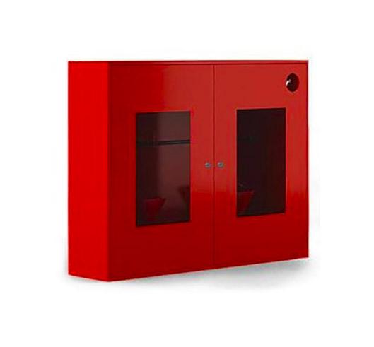 Пожарный щит металлический закрытого типа со стеклом